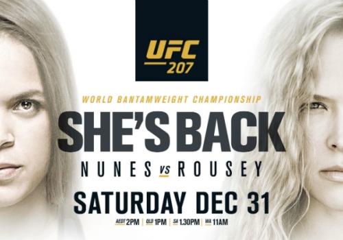 UFC 207: Nunes vs. Rousey-ennakko