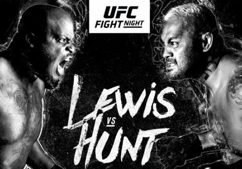Mark Hunt vei voiton Derrick Lewisistä TKO:lla neljännessä erässä