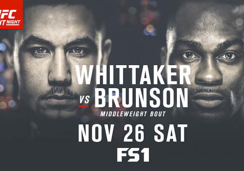 UFC Fight Night 101: Whittaker vs. Brunson-ennakko